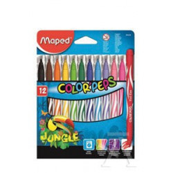 C/12 ROTULADORES COLOR PEP´S JUNGLE MAPED