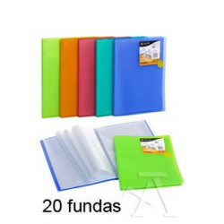 CARPETA 20 FUNDAS TAPA FLEXIBLE A4